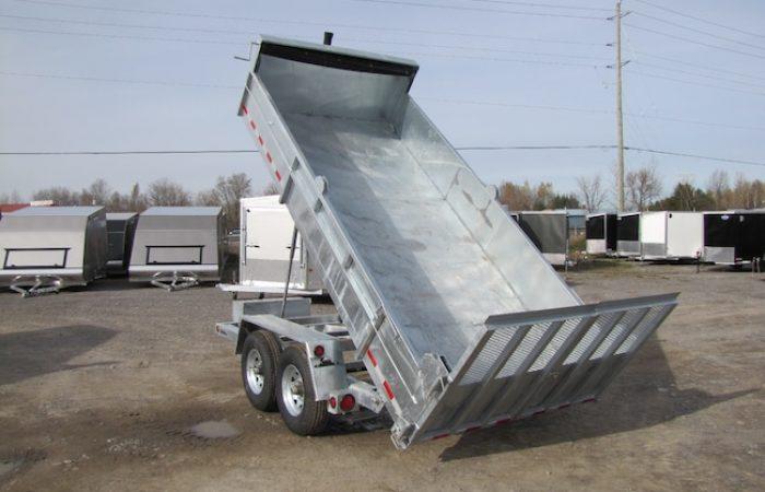 2020 Advantage 7 Ton 14ft Galvanized Dump Trailer