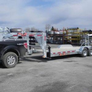 7 Ton 20'+2′ Galvanized Gooseneck Equipment Trailer
