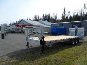 7 Ton 20'+5′ Galvanized Gooseneck Equipment Trailer