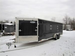 7′ X 23′ All Aluminum Snowmobile Trailer