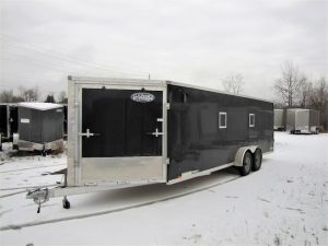 7′ X 27′ All Aluminum Snowmobile Trailer
