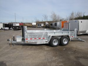 7 Ton 14ft Galvanized Dump Trailer