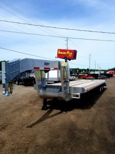 30′ Aluminum Flat Deck Equipment Trailer