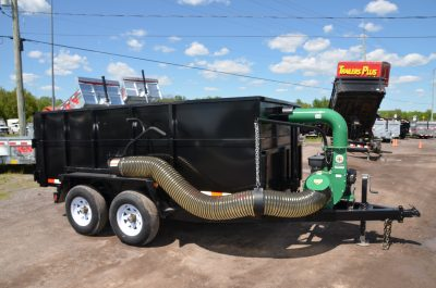 12′ Dump Trailer w/ Blower Unit