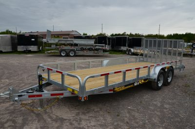5T Galvanized Landscape Trailer w/ Split Gates