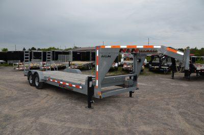 20+2 Galvanized Gooseneck Equipment Trailer