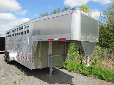 Maverick 20′ Aluminum Gooseneck Livestock Trailer