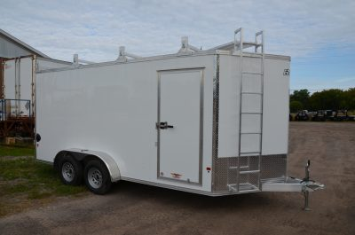 7×16 Aluminum Contractor Trailer