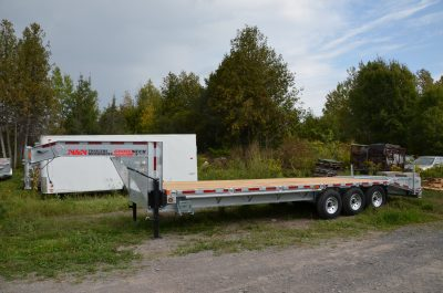 22+5 Galvanized Deck Over Equipment Trailer