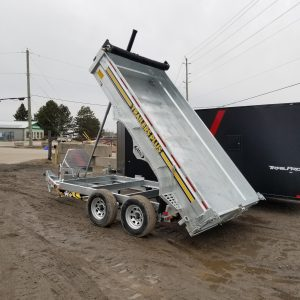 6×12 Galvanized Dump Trailer